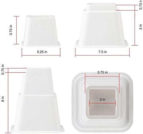 un meuble Design61 Pieds pour meubles r/églables en hauteur permettant d/élever un lit 3 positions 8 pi/èces 4 courts + 4 longs pour pieds jusqu/à 68 x 68 mm marron. une table