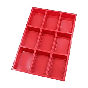 Homedmade Chocolate Soap Candle Crayon Cookies Plaster DIY Silicone Mold Pan Tray Kids Fun Maker (Rectangular Bar)