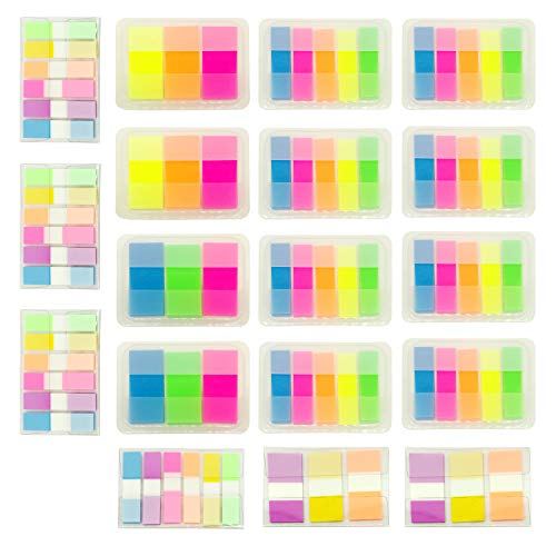 1640 Pieces Sticky Notes Pop up Index Label Text Highlighter Strips, Transparent Tabs Flags Stickers for Page Marker, PietyPet -
