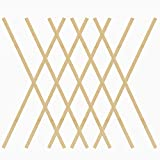 Pllieay 60 Pieces Natural Bamboo Sticks Wood Craft