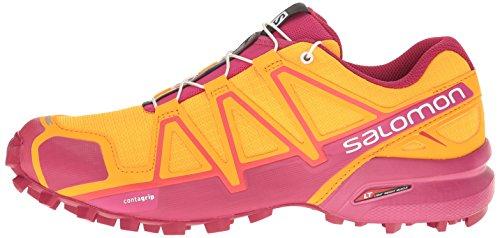 Women''s bright Marigold Orange sangria Running 4 Trail Speedcross Salomon Shoes Zqxd6q