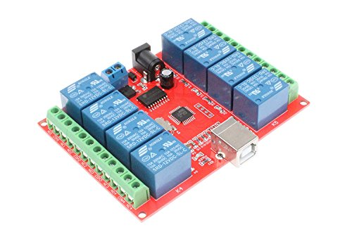 ARCELI 8-Channel 12V Computer USB Control Switch Relay Module Drive-Free Relay Module Plug and Play Suitable for PC Smart Controller ()