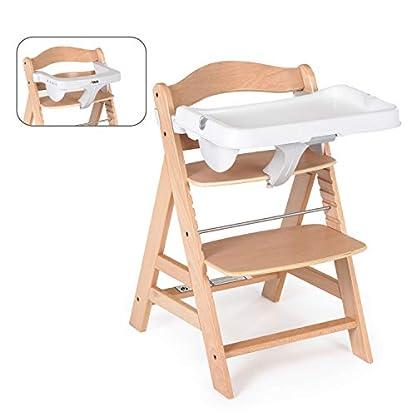 Hauck Alpha Tray, Essbrett mit herausnehmbarem Tablett, kompatibel mit Alpha +, pflegeleicht, leichte Montage, verstellbar, Bechervertiefung und erhöhtem Rand, weiß 3
