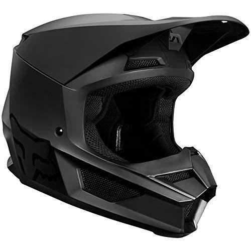 (Fox Racing 2019 Youth V1 Helmet (MEDIUM) (MATTE BLACK))