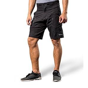 "Bpbtti Mens Baggy MTB Mountain Bike Shorts with Removeable Biking Bicycle Cycling Padded Liner Short Black (Black, Waist 38-40"" - XL)"