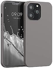 kwmobile telefoonhoesje compatibel met Apple iPhone 13 Pro - Hoesje voor smartphone - Back cover in titaniumgrijs