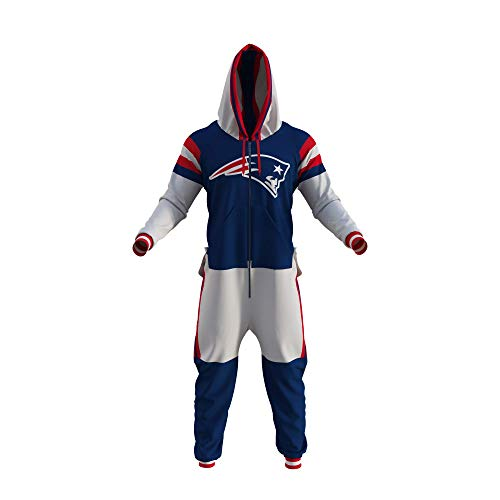 New England Patriots NFL Adult Onesie (Medium) Blue