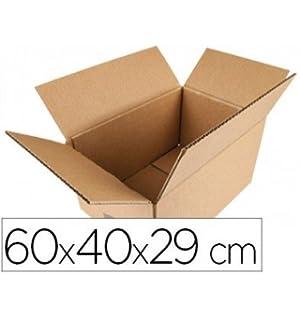 APLI 13251 - Caja porta documentos de cartón, 600 x 400 x 300 mm: Amazon.es: Oficina y papelería