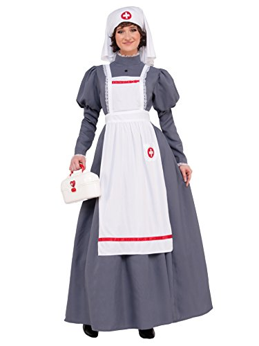 Forum Novelties American Civil War Nurse Costume Womens Dress Red Cross Barton Nightingale 14-16