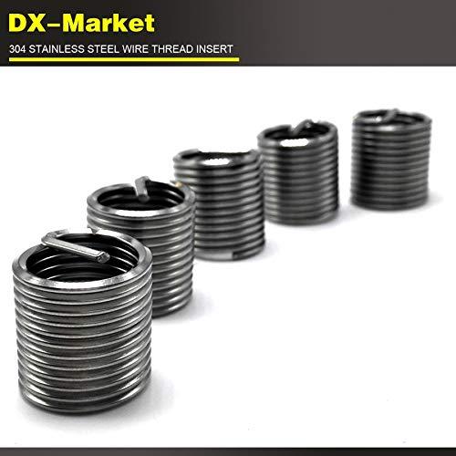 T0122 high Strength Stainless Steel Thread Inserts 1d 1.5d 2D 2.5d 3D Each 10pcs Damaged Thread Repair kit Ochoos m81.0P