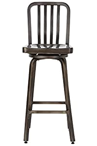 Amazon Com Sandra Bar Stool Swivel Gun Metal Kitchen