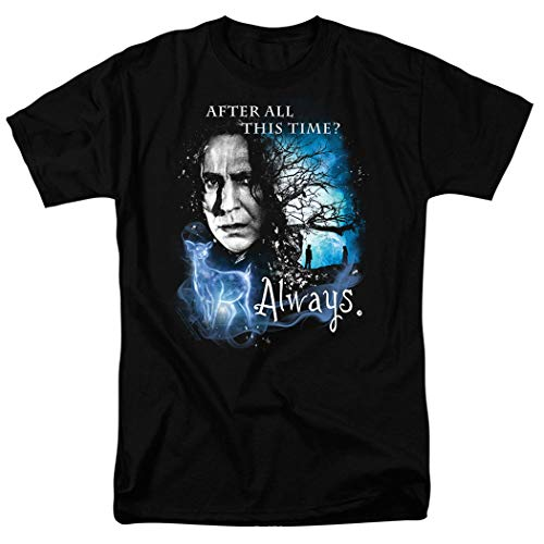Potter Harry Wardrobe - Popfunk Harry Potter Professor Snape Always T Shirt & Stickers (Small) Black