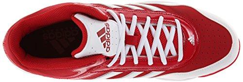 adidas Rendimiento Hombre Excelsior Pro Metal Mid Zapatillas de béisbol zapatos de césped Power Red/Running White/Metallic Silver