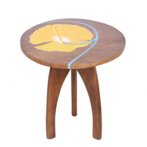 Store Indya Gift Retro Style Wooden Coffee Side End Table (Dining Room Painted Side Table)