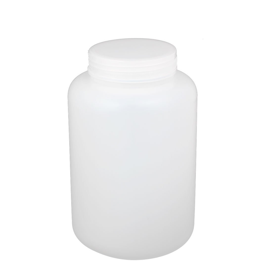 uxcell 2L Plastic Wide Mouth Laboratory Reagent Bottle Sample Sealling Bait Bottle White