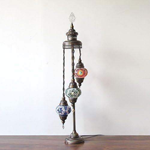 Woodymood Stunning Handmade Turkish Moroccan Mosaic Glass Floor Lamp