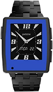 product image for Slickwraps Slickwraps Blue Color Series Wraps/Skins for Pebble Steel Watch - Retail Packaging - Blue