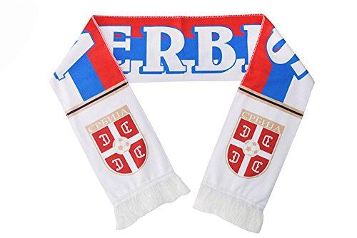 Wsysnl Soccer World Cup Gift Souvenir Fan Scarf Cotton Lint Serbia (Serbia World Cup)