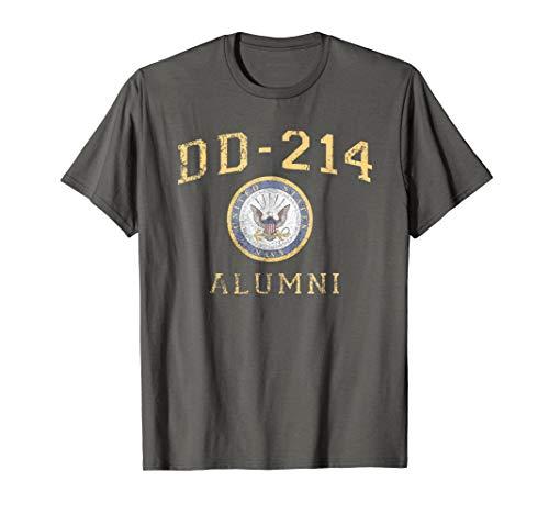US Navy Shirt DD214 Alumni T Shirt Distressed Insignia