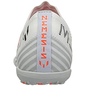adidas Originals Boys' Nemeziz Messi Tango 17.3 TF J Soccer Shoe, White/Solar Orange/Black, 4.5 Medium US Little Kid