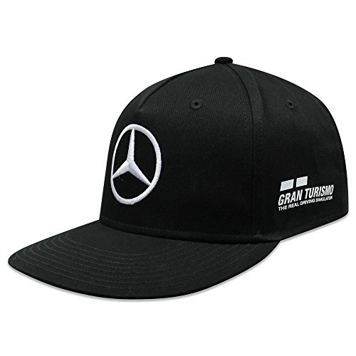Mercedes AMG F1 Team Driver Puma Hamilton Flat Peak Gorra Negro Oficial 2018 7a3c6a2ea07