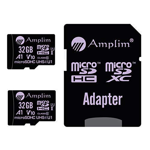 2-Pack 32GB Micro SD Card Plus Adapter. Amplim 32 GB MicroSD Memory Card 100MB/s 667X V10 A1 U1 - Class 10 UHS-I 32G MicroSDHC TF Card for Cell ...