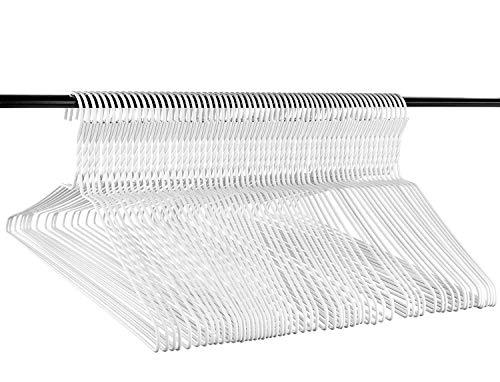 Usa Vinyl - Neaties USA Made Heavy Duty White Vinyl Wire Clothes Hangers, 60pk
