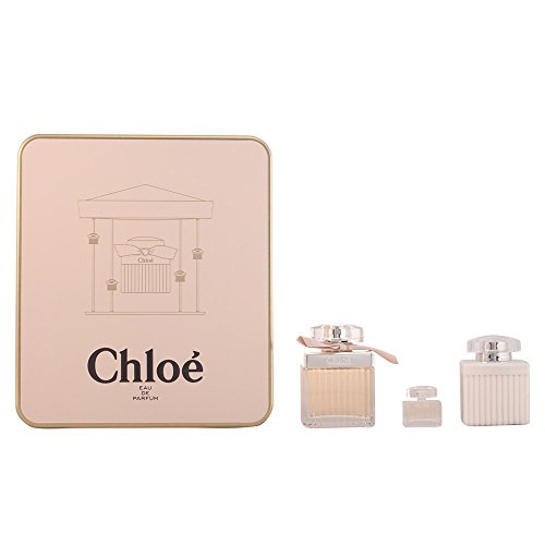 Chloe 3 Piece Set (2.5oz EDP Spray, 3.4oz Body Lotion, .17oz EDP Mini Splash) One 2.5 Ounce Edp