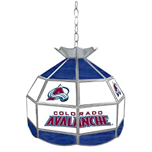 NHL Colorado Avalanche stained glass Tiffany lamp - 16-inch