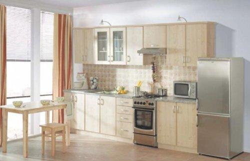 küche sydney ahorn 310cm küchenzeile küchenblock variabel