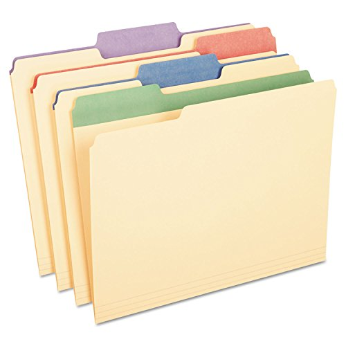 (Pendaflex 1/3 Cut 3/4-Inch Letter Manila File Folders with Assorted Color Tabs, 12-Pack (PFX84100))