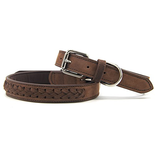 Brown Leather Dog Collar Quality product image