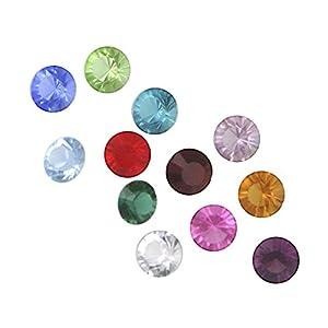 Loving Family Set of 12 Swarovski Crystals 5mm forthe Mother's Heart Locket