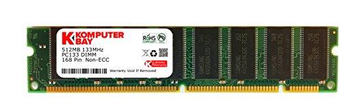 Komputerbay 512MB SDRAM 133 MHz 3.3V PC133 168PIN SDRAM DIMM FOR APPLE (168 Pin Mac Pc)