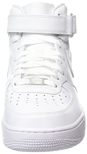 1 White Force Air Scarpe '07 Mid Donna Sportive Wmns Nike White Bianco Le wFB6Zn