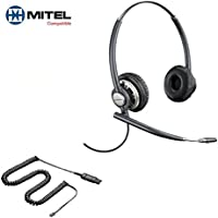 Mitel Compatible Plantronics EncorePro 720 HW720 Headsets Bundle for Mitel 50xx 51xx 52xx 53xx 55xx 85xx 8600