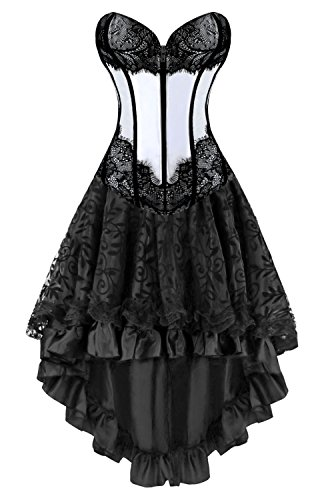 Victorian Overbust Corset with Dancing Skirt Set