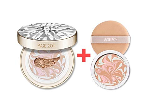 [Limited Edition] Age 20s Essence Cover Pact RX 12.5g (0.44oz) include Refill - Korean Cosmetics (No.21 Light Beige)