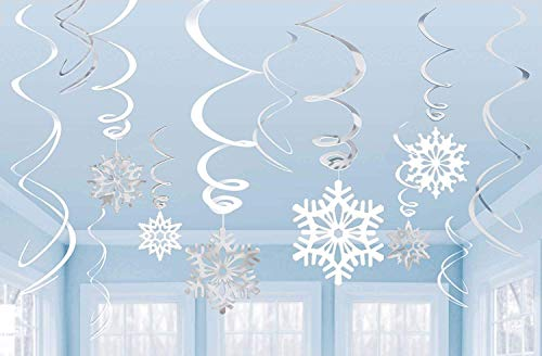 Amscan Snowflakes Hanging Swirl Decorations (12pc) -