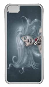 Customized iphone 5C PC Transparent Case - Winter Girl 2 Personalized Cover