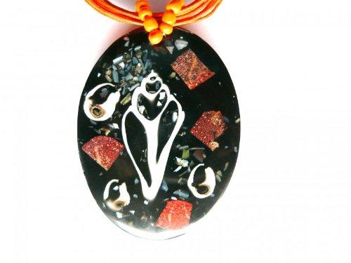 Collier, chaîne, bijou fantaisie, Bijoux, coquillage