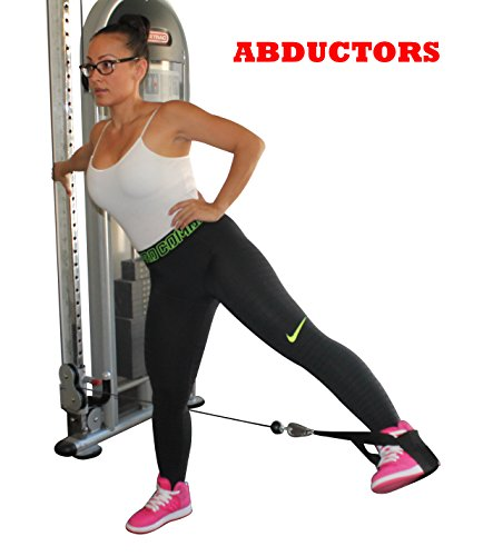 Butt Lifter Attaches to Foot for GLUTE EXERCISE & ACTIVATION Great for BUTT WORKOUT with Cable Machine & Workout Bands BOOTY WORKOUT Lifts, Shapes, Tightens, Builds & Strengthens the GLUTES