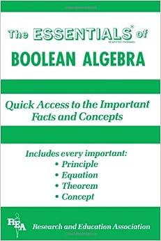 Boolean Algebra (Essential Series)