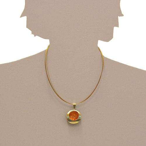In Collections - 0010103511L100 - Pendentif Femme - Or jaune 333/1000 (8 cts) - ambre