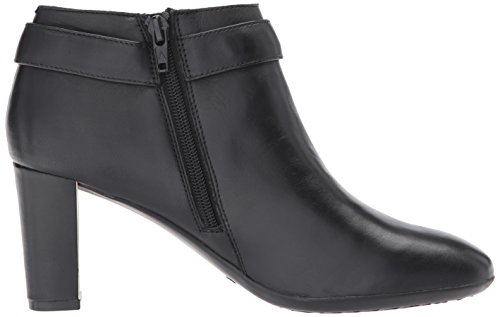 Toe Boots Fashion Ankle Womens Black Leather Aerosoles Almond Leather Third Avenue XwqR8