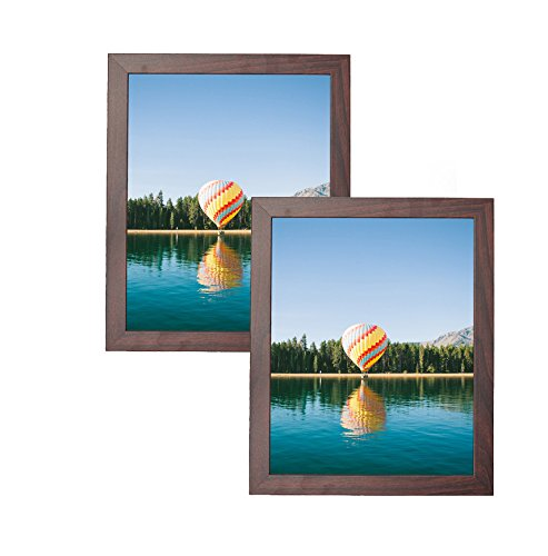 MDF Wood Picture Frames 8x10 Display with PVC Lens, Easel Ba