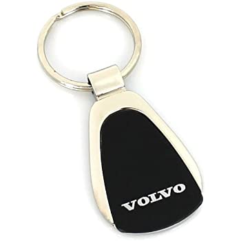 Amazon.com: Volvo piel Negro Llavero: Automotive