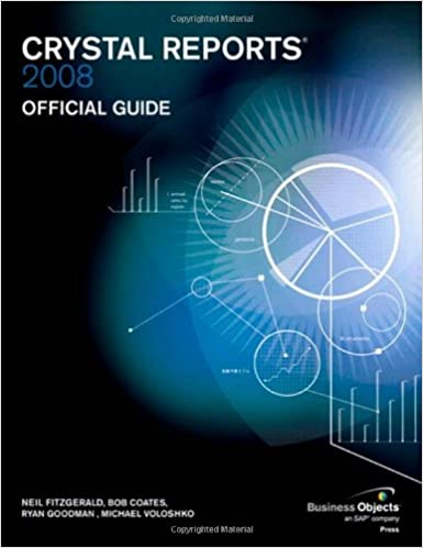Book Crystal Reports 2008 Official Guide (Business Objects Press)