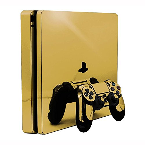 Sony PlayStation 4 Slim Skin (PS4S) - NEW - GOLD CHROME MIRROR vinyl decal console mod kit by System Skins - Mirrors Edge Game Guide