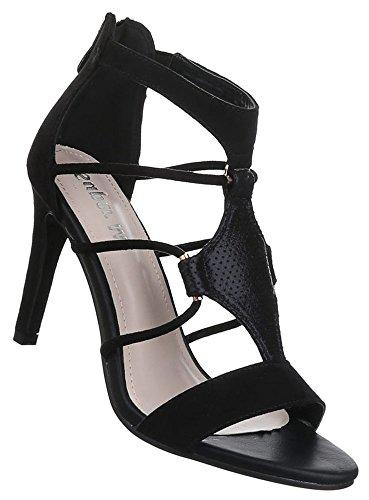 bf4bfb739cd7 Damen Sandaletten Schuhe High Heels Pumps Stilettos Schwarz beige blau 36  37 38 39 40 41
